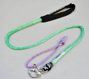 Dog Leash 6mm Green with Quick release hook+soft Shackle, made in Australia, Strongest Leads