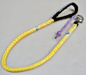 Dog Leash 10mm Yellow with Quick release hook+soft Shackle, made in Australia, Strongest Leads