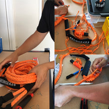 Load image into Gallery viewer, Recovery Kit: Snatch Ring+ Winch Extension Tow Rope+ Black Eye Button Knot Soft Shackle