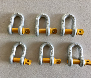 "Rated Dee Shackle 8mm 5/16"" 0.75ton 750kg Lifting Trailer Safety Chain"