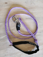 Load image into Gallery viewer, Dog Leash 4mm Purple with Quick release hook+soft Shackle, made in Australia, Strongest Leads