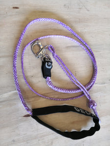 Dog Leash 4mm Purple with Quick release hook+soft Shackle, made in Australia, Strongest Leads