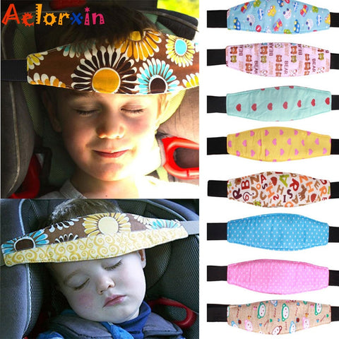Newborn Infants and Baby Head Support Pram Stroller Accessaries Car Safety Seat Fastening Belt Adjustable Car Sleep Positioner