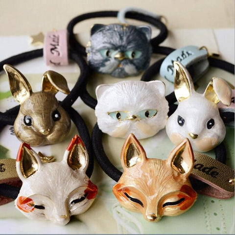 Timlee H033 Free shipping Cute Cat Fox Rabbit Hairband  Hair Accessary Gift