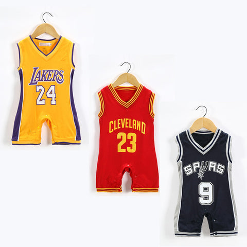 Boys Jumpsuits Basketball Sport Clothes