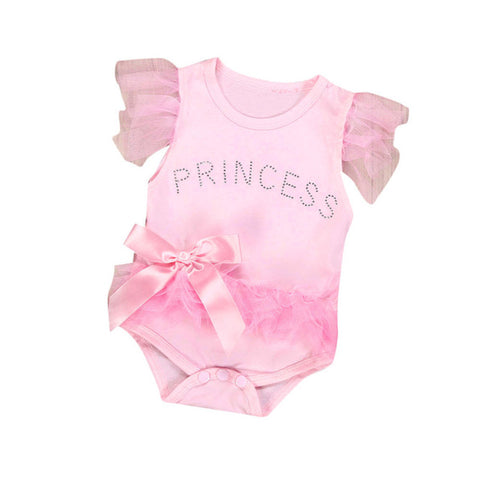 New born Baby Girl  Princess Romper Jumpsuit