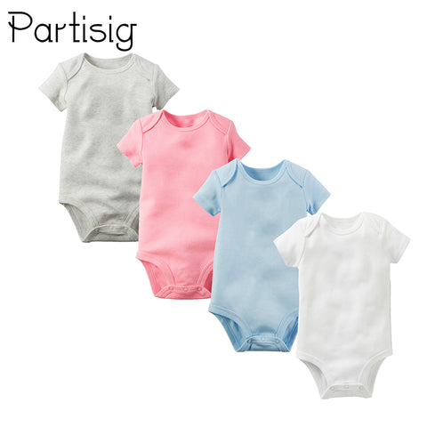 Onesie  Cotton Short Sleeve  Solid Color