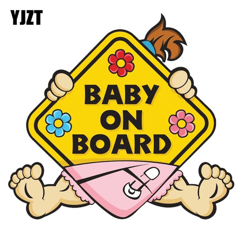 Car Sticker Girl BABY ON BOARD