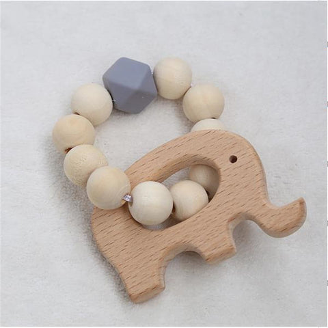 Animal Shaped Wooden Ornament with Beads