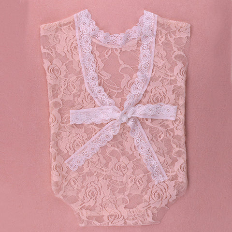 Lace Baby Romper  Girls Floral Lace Top
