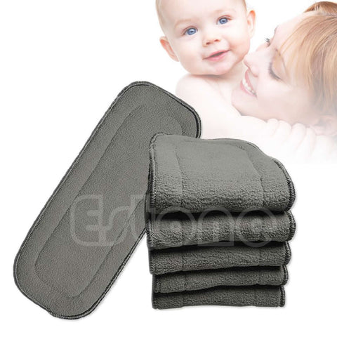 Washable   5 Layers 1pc Diaper Insert Charcoal
