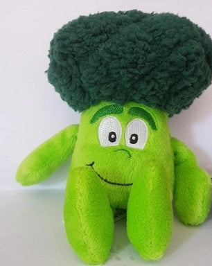 Toy, Small stuffed plush toy in shape of a vegetable