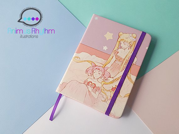 Sailor Moon Travel Notebook Journal Sketchbook Usagi sailor chibi moon