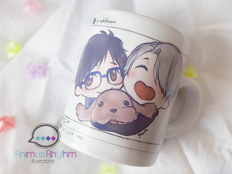 Mini Ceramic Mug: Yuri!!! on Ice Victor Nikiforov Yuuri Katsuki