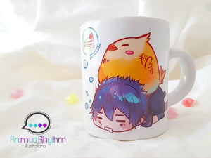 Mini Ceramic Mug: Final Fantasy 15 Noctis and Fat Chocobo