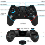 WIRELESS CONTROLLER NINTENDO SWITCH, JOYCON SWITCH JOYSTICK GAMEPAD CON BATTERIA RICARICABILE/GYRO AXIS/DUAL VIBRATION/TURBO FUNZIONI