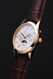 Gold with White Dial