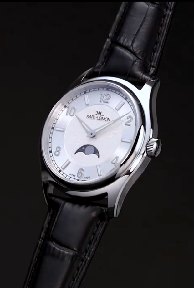 Stainless Steel with White Dial