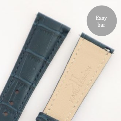 Blue Leather Gold Strap