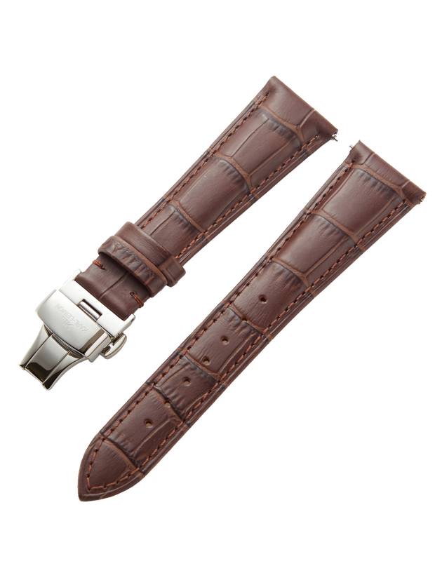 Brown Leather Strap D-Buckle