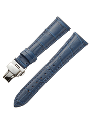 Blue Leather Strap D-Buckle