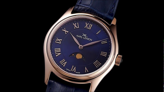 Gold with Blue Dial
