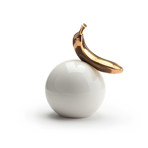 Banana Ball 16cm dia | Goltz Collection | gold