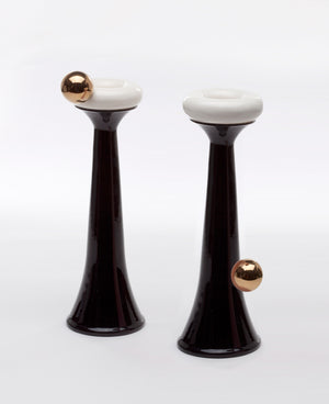 Mey's Candlesticks | Herzl Collection | Black