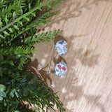 Large Liberty Fabric Button Earrings