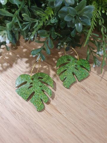 Magnificent Monstera Earrings