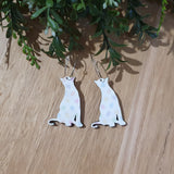 Easter Cat dangle earrings