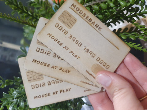 Mouse Bank Timber Card *Pre-order*