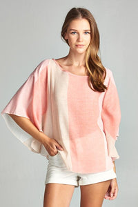 COLOR BLOCK PONCHO