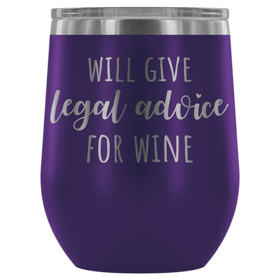 Lawyer Tumbler Will Give Legal Advice For Wine