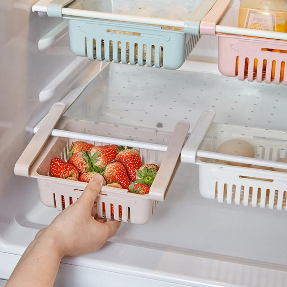 Adjustable Fridge Storage Basket