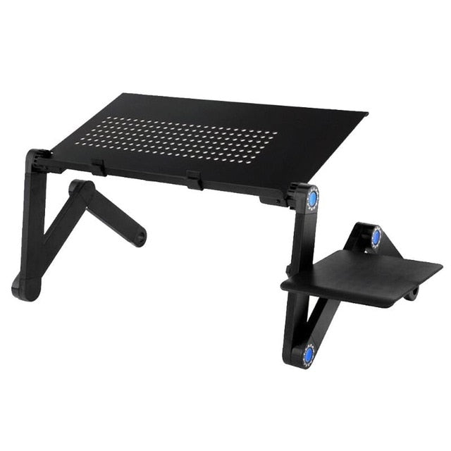 Adjustable Laptop Standing Desk Ergonomic Portable With Mouse Pad