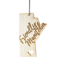 Friendly Manitoba Heart – Rescentable Wood Car Air Freshener