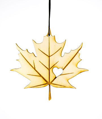 Maple Leaf Heart – Rescentable Wood Car Air Freshener
