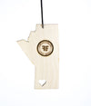 Manitoba Heart – Rescentable Wood Car Air Freshener