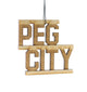 Peg City – Rescentable Wood Car Air Freshener