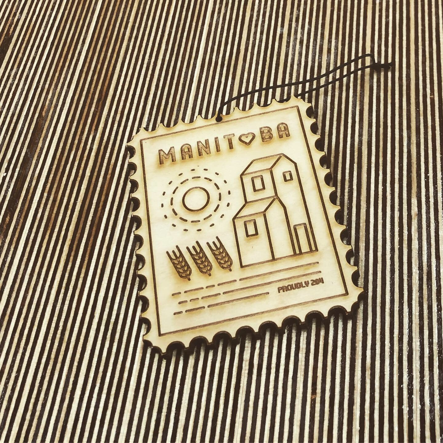 Manitoba Stamp – Rescentable Wood Car Air Freshener