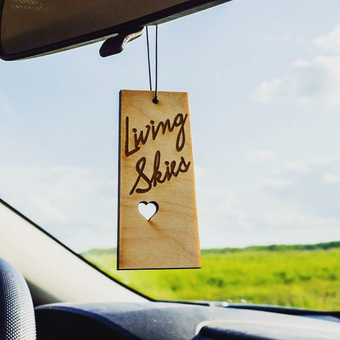 Saskatoon Living Skies – Rescentable Wood Car Air Freshener