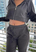 Bae-Sic Black Bermuda Shorts Set