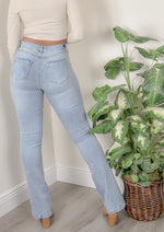 Wendy Wide-Leg High Waisted Light Wash Jeans