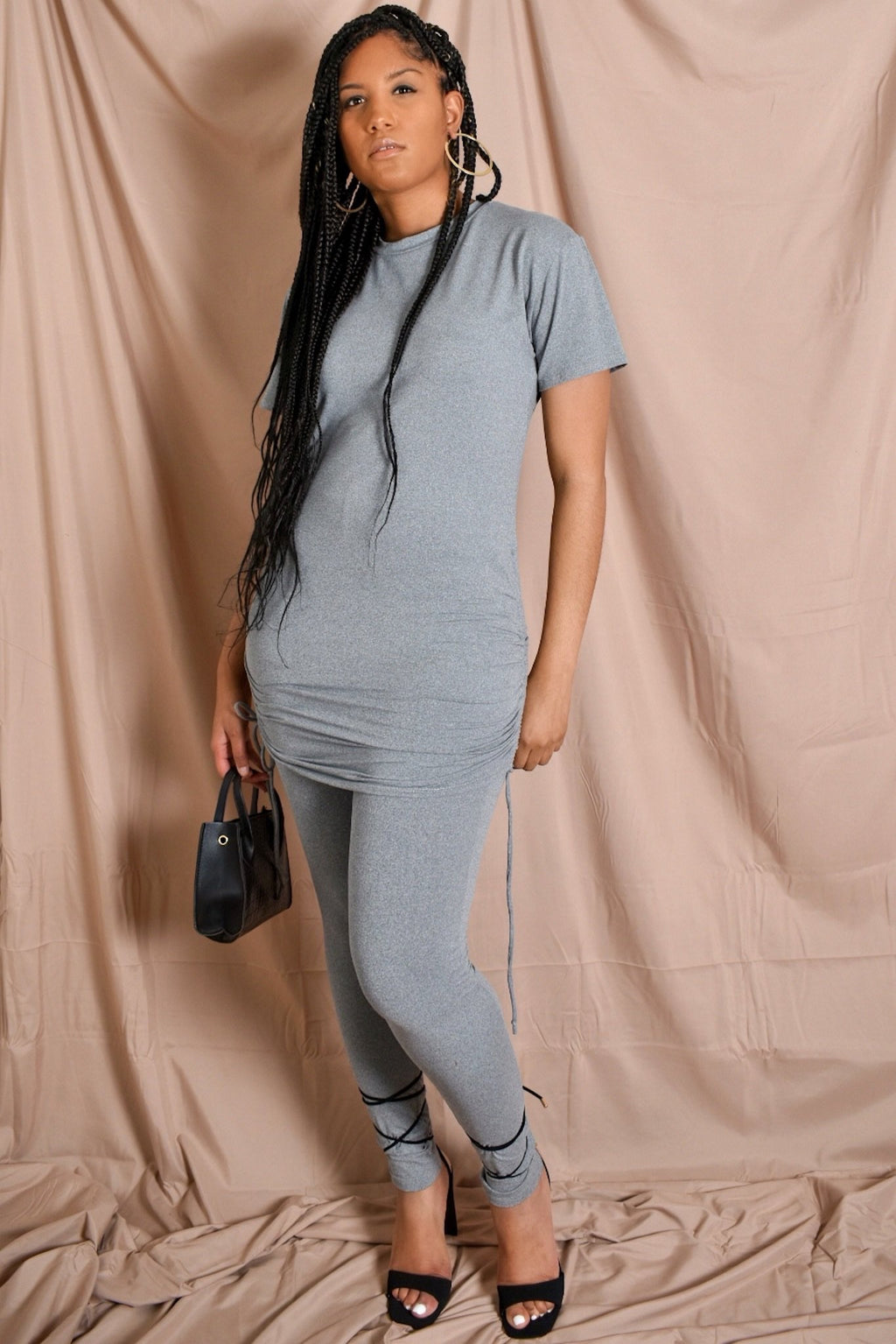 Bae-Sic Grey Pants Set