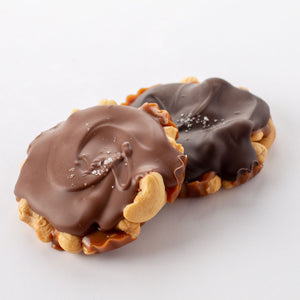 Milk or Dark Chocolate Cashew Turtles Amy's Candy Bar Chicago