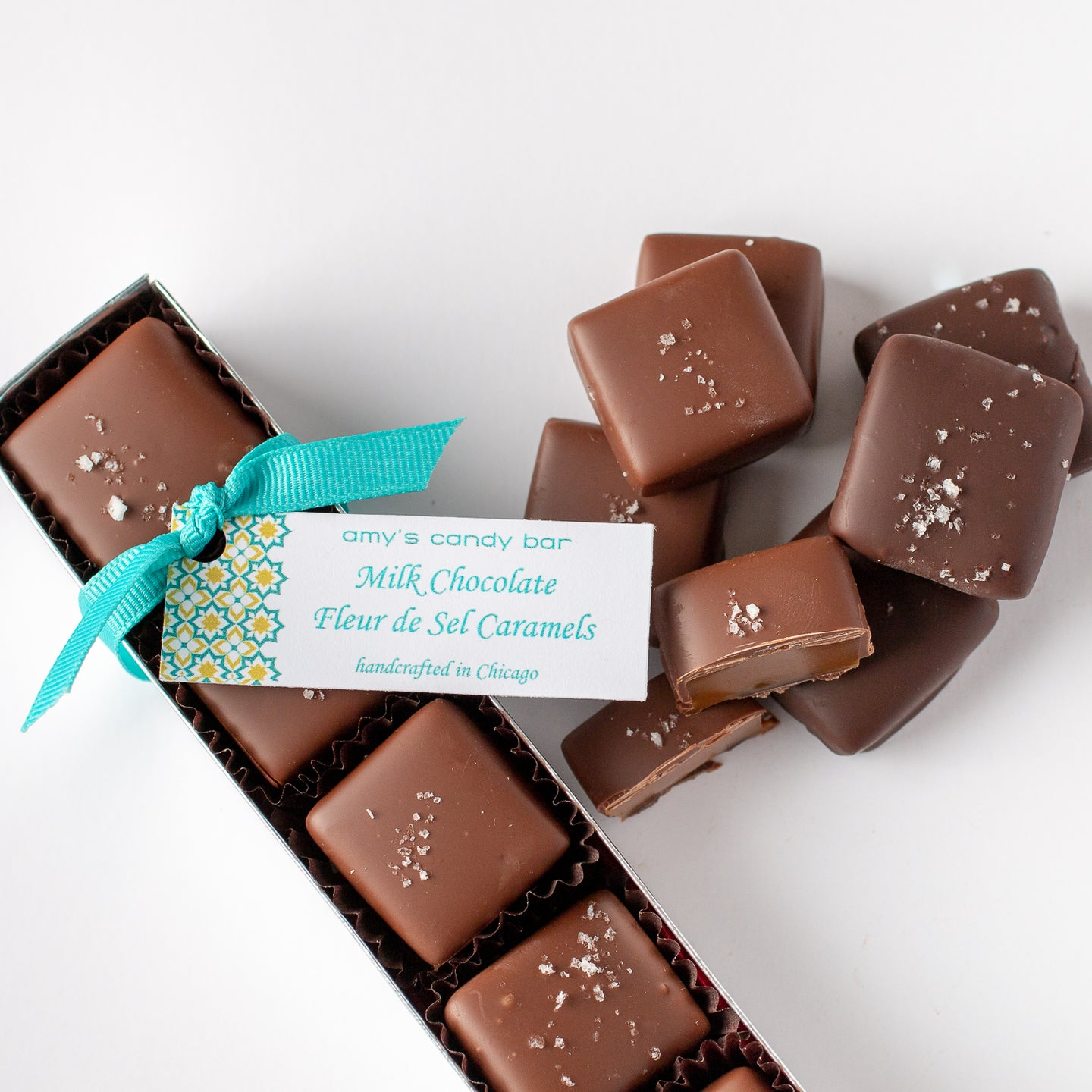 Milk and Dark Chocolate Fleur de Sel Caramels Amy's Candy Bar Chicago