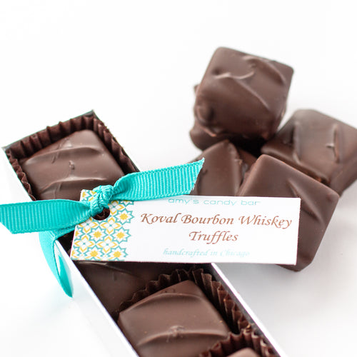 Koval Bourbon Whiskey Truffles (Dark Chocolate) Amy's Candy Bar Chicago