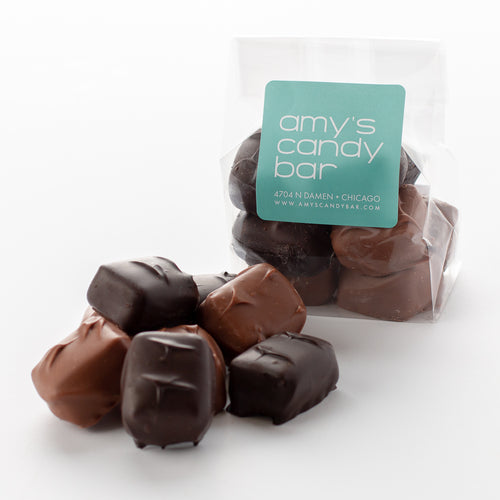 Milk and Dark Chocolate Peanut Butter Meltaways Amy's Candy Bar Chicago