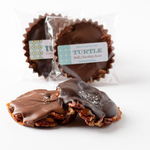 Milk or Dark Chocolate Pecan Turtles Amy's Candy Bar Chicago